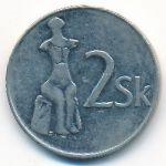 Словакия, 2 кроны (1993 г.)