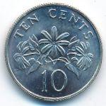Сингапур, 10 центов (1987 г.)