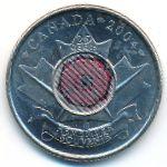 Канада, 25 центов (2004 г.)