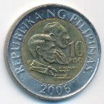 Филиппины, 10 песо (2006 г.)