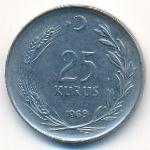 Турция, 25 куруш (1969 г.)