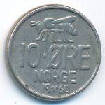 Норвегия, 10 эре (1960–1972 г.)