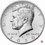 США, 1/2 доллара (2020 г.)
