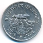 Джерси, 10 пенсов (1987 г.)