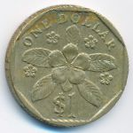Сингапур, 1 доллар (1987–1989 г.)