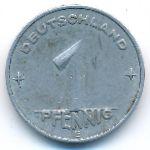 ГДР, 1 пфенниг (1953 г.)