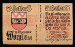 Нотгельды Австрии, 5 геллеров