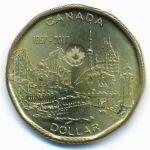 Канада, 1 доллар (2017 г.)