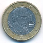 Австрия, 1 евро (2002 г.)