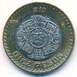 Мексика, 10 песо (2014 г.)