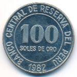Перу, 100 солей (1982 г.)