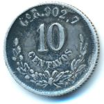 Мексика, 10 сентаво (1888 г.)