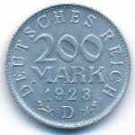 Веймарская республика, 200 марок (1923 г.)