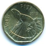 Фиджи, 1 доллар (2012 г.)
