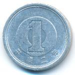 Япония, 1 иена (1990 г.)