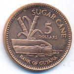 Гайана, 5 долларов (2008 г.)