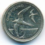 Остров Святой Елены и острова Вознесения, 1 фунт (2006 г.)