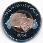 Остров Саба, 2 1/2 доллара (2014 г.)