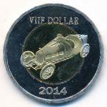 Остров Саба, 5 долларов (2014 г.)