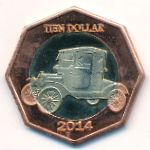 Остров Саба, 10 долларов (2014 г.)