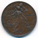 Италия, 10 чентезимо (1911 г.)