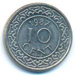 Суринам, 10 центов (1987–2009 г.)