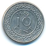 Суринам, 10 центов (1989–2009 г.)