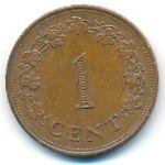 Мальта, 1 цент (1975 г.)