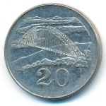 Зимбабве, 20 центов (2001 г.)