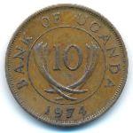 Уганда, 10 центов (1974 г.)