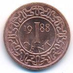 Суринам, 1 цент (1988 г.)