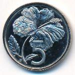 Острова Кука, 5 центов (1976 г.)