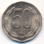 Чили, 50 песо (1982 г.)