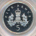 Великобритания, 5 пенсов (1990 г.)
