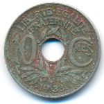 Франция, 10 сентим (1938–1939 г.)