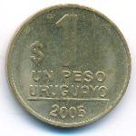Уругвай, 1 песо (2005 г.)