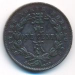 Северное Борнео, 1 цент (1891 г.)