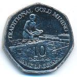Гайана, 10 долларов (2011 г.)