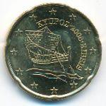 Кипр, 20 евроцентов (2008–2018 г.)