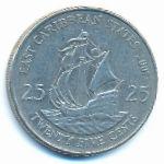 Восточные Карибы, 25 центов (2007 г.)