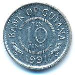 Гайана, 10 центов (1991 г.)
