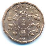 Уганда, 2 шиллинга (1987 г.)