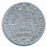Гамбург, 4 шиллинга (1728 г.)