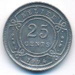 Белиз, 25 центов (1994 г.)