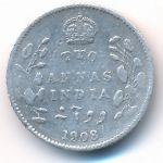 Британская Индия, 2 анны (1908 г.)