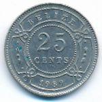 Белиз, 25 центов (1989 г.)