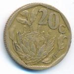ЮАР, 20 центов (1992–1994 г.)