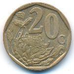 ЮАР, 20 центов (1996–1997 г.)