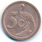 ЮАР, 5 центов (1990–1994 г.)