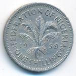 Нигерия, 1 шиллинг (1959–1961 г.)